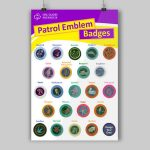 A3 Patrol Emblems Poster