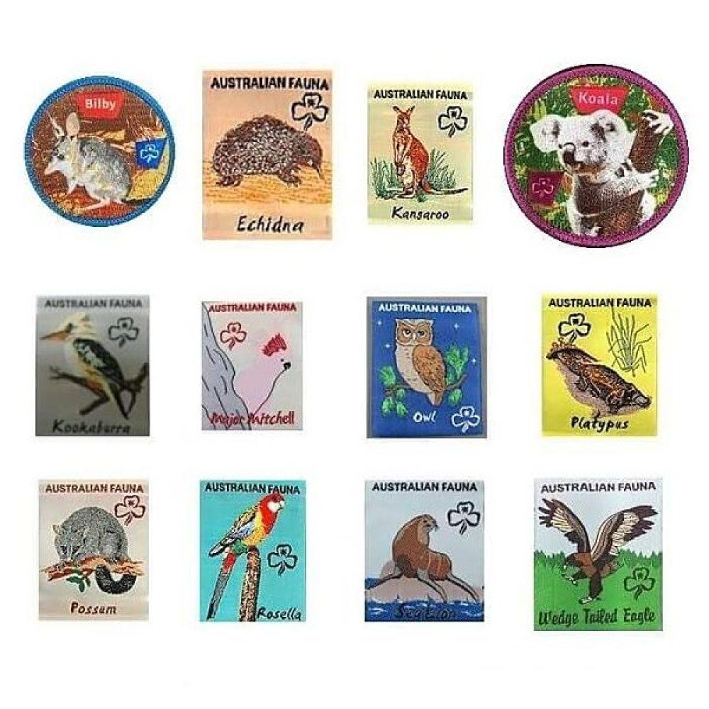 Girl Guides SA Fauna Badges