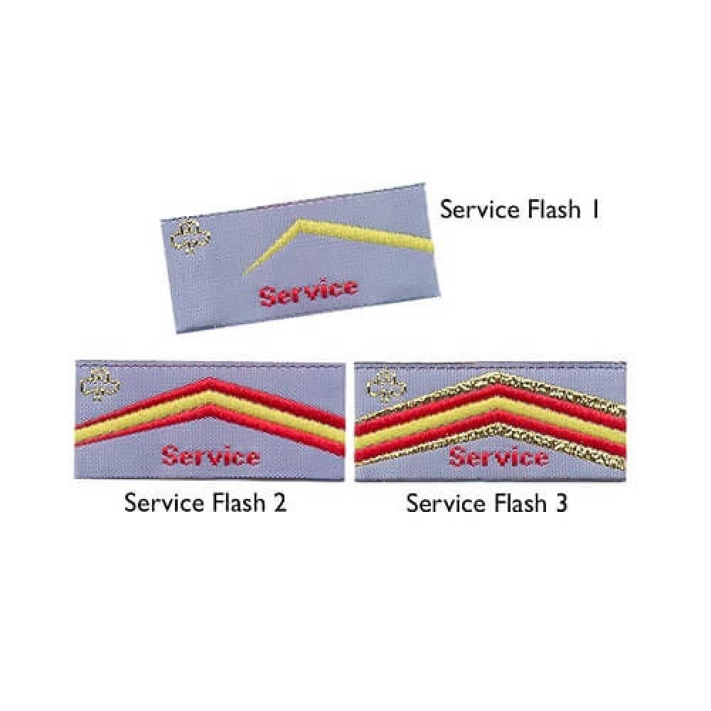 Service Flash Badges