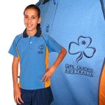 Tween Polo Uniform Blue & Orange